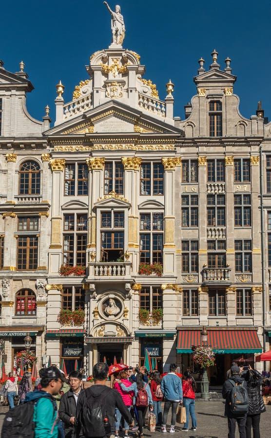 Losu Angeles Chaloupe d ` Lub pub restauracja na Uroczystym miejscu, Brukselski Belgia zdjęcia royalty free