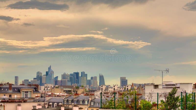 Losu Angeles dfense, Paryż, budynek, chmura, upływ zbiory wideo