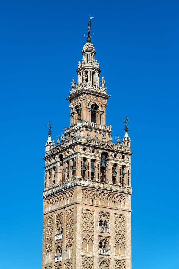 Losu Angeles Giralda wierza w Sevilla, Hiszpania zdjęcia stock
