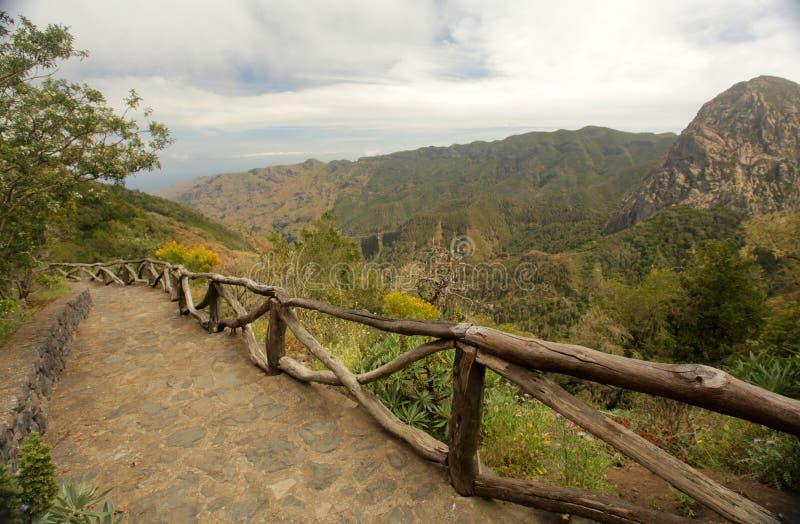 Losu Angeles Gomera krajobraz obrazy stock