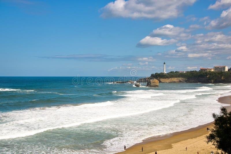 Losu Angeles grande plage wielka plaża Biarritz obraz stock