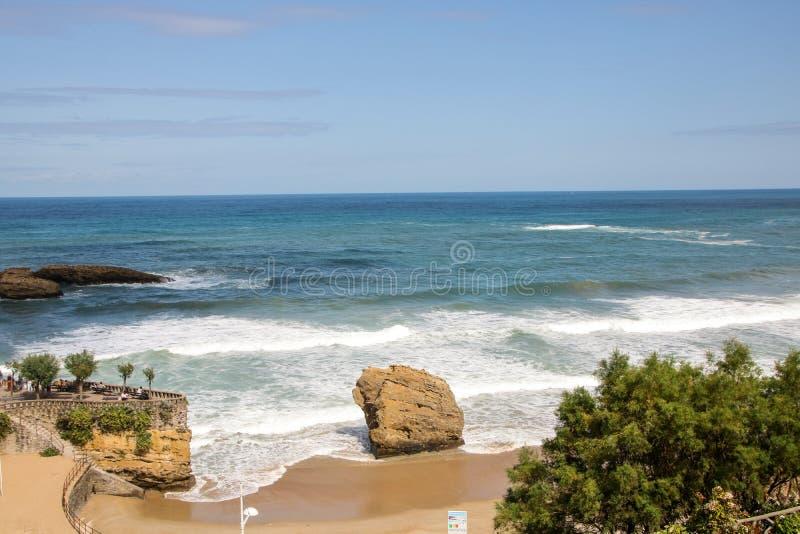 Losu Angeles grande plage wielka plaża Biarritz zdjęcia stock