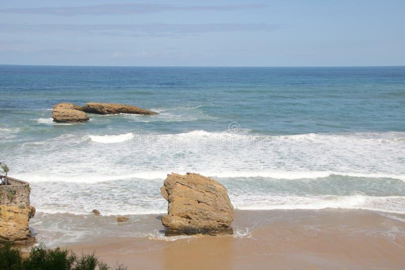 Losu Angeles grande plage wielka plaża Biarritz obrazy stock