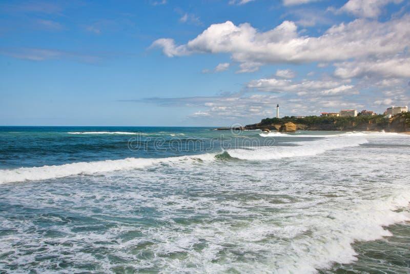 Losu Angeles grande plage wielka plaża Biarritz zdjęcie stock