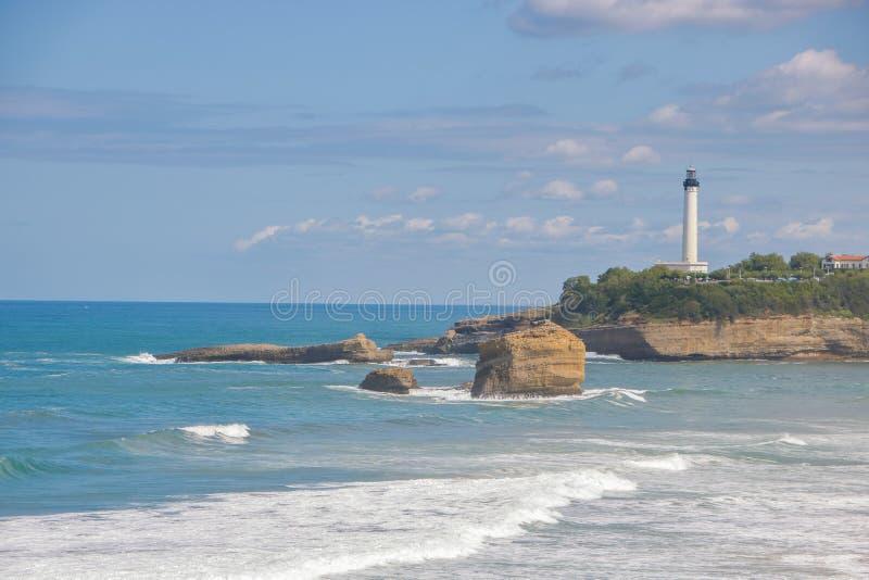 Losu Angeles grande plage wielka plaża Biarritz zdjęcia royalty free