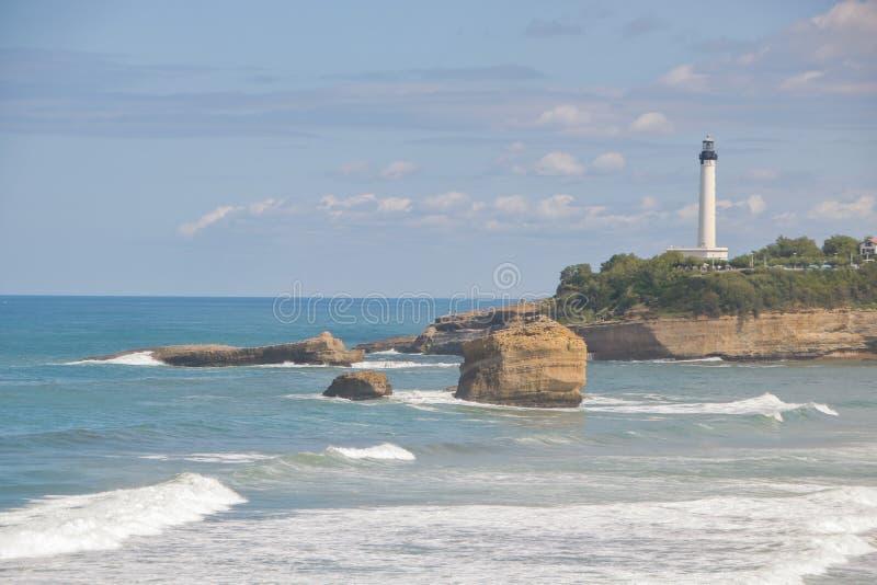 Losu Angeles grande plage wielka plaża Biarritz obraz royalty free