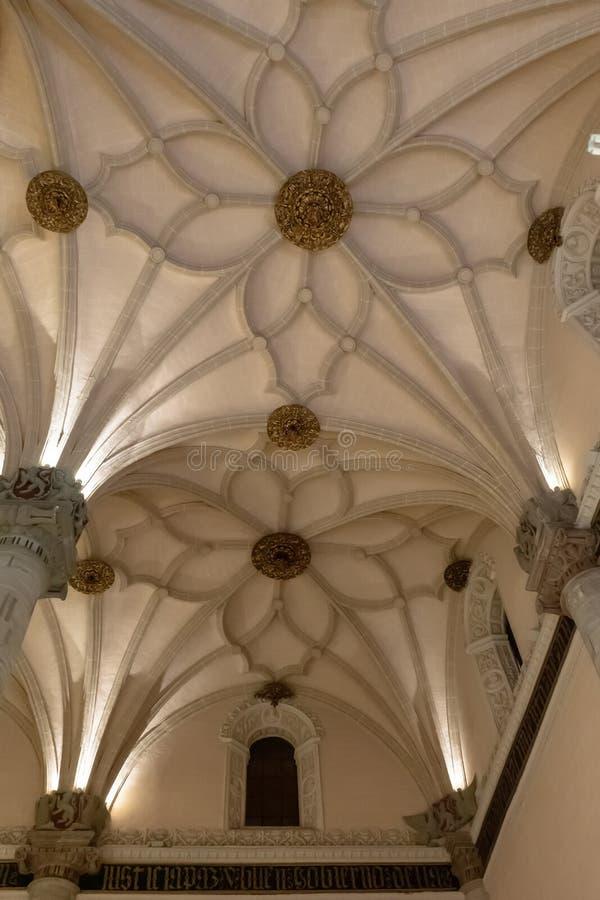 Losu Angeles Lonja powystawowa sala w Zaragoza, Hiszpania zdjęcie royalty free