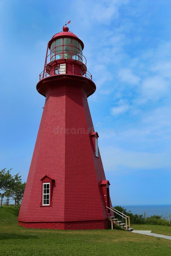 Losu Angeles Martre latarnia morska w Gaspesie, Quebec obraz stock