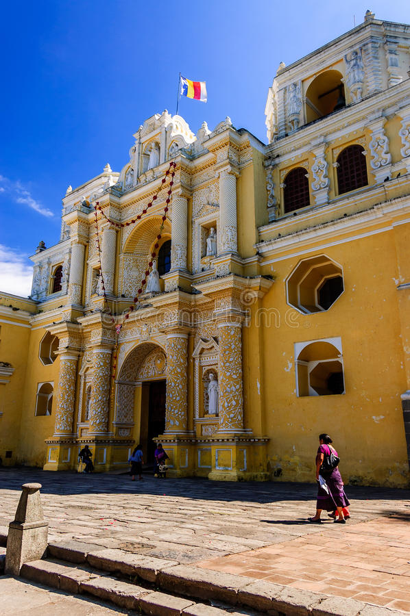 Losu Angeles Merced kościół, Antigua, Gwatemala zdjęcia royalty free