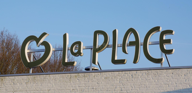 Losu Angeles miejsca restauraci logo zdjęcie stock