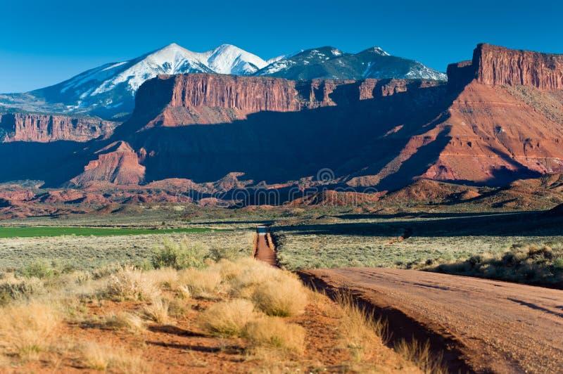 losu angeles Moab góry zbliżać sal zdjęcie royalty free