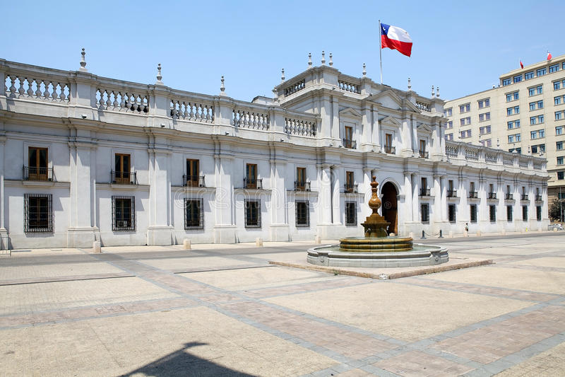 Losu Angeles Moneda pałac, Santiago de Chile, Chile obraz stock