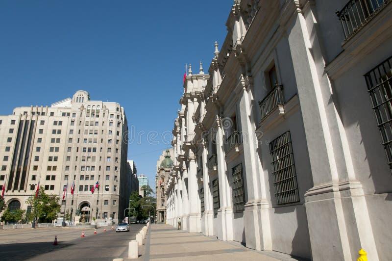 Losu Angeles Moneda Prezydencki pałac Santiago, Chile - zdjęcie royalty free