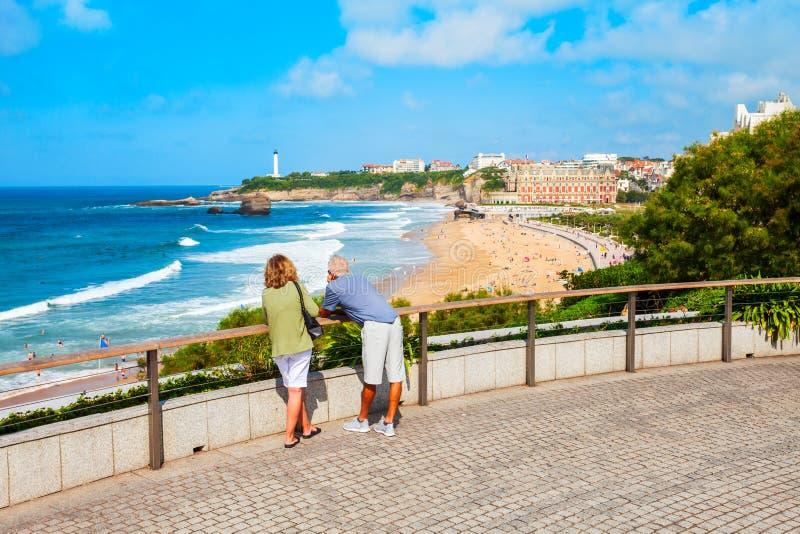 Losu Angeles Plage Grande plaża, Biarritz zdjęcie stock