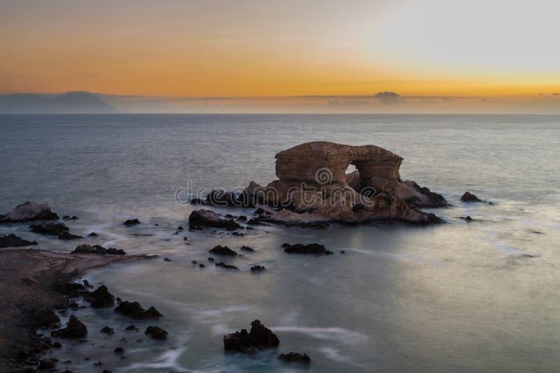 'losu angeles Portada' Naturalny zabytek, Antofagasta (Chile) zdjęcia stock
