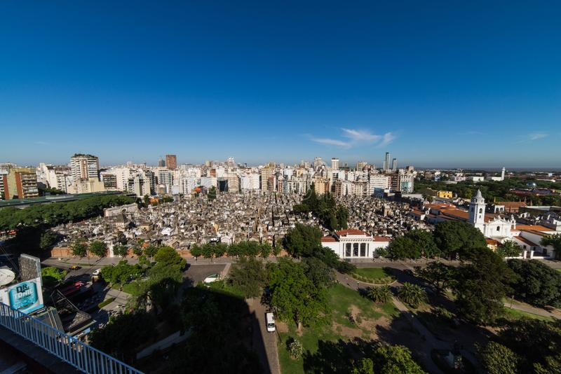 Losu Angeles Recoleta cmentarz aires Argentina buenos obrazy stock