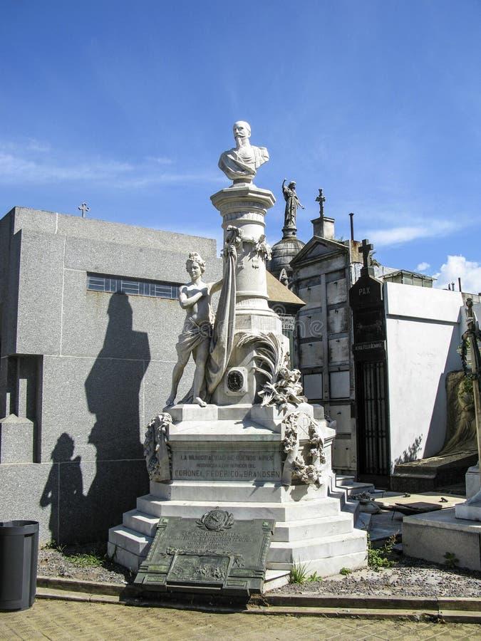 Losu Angeles Recoleta cmentarz Buenos Aires, Argentyna, - zdjęcie stock