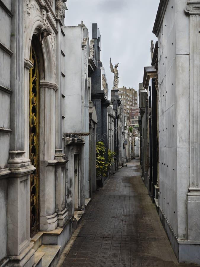 Losu Angeles Recoleta cmentarz, Buenos Aires, Argentyna fotografia royalty free