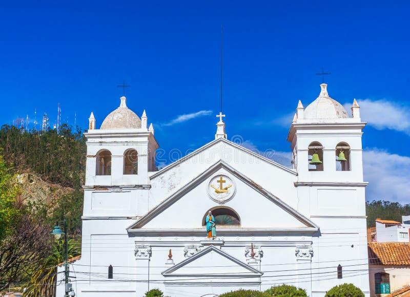 Losu Angeles recoleta kościół w Sucre, Boliwia - zdjęcie stock