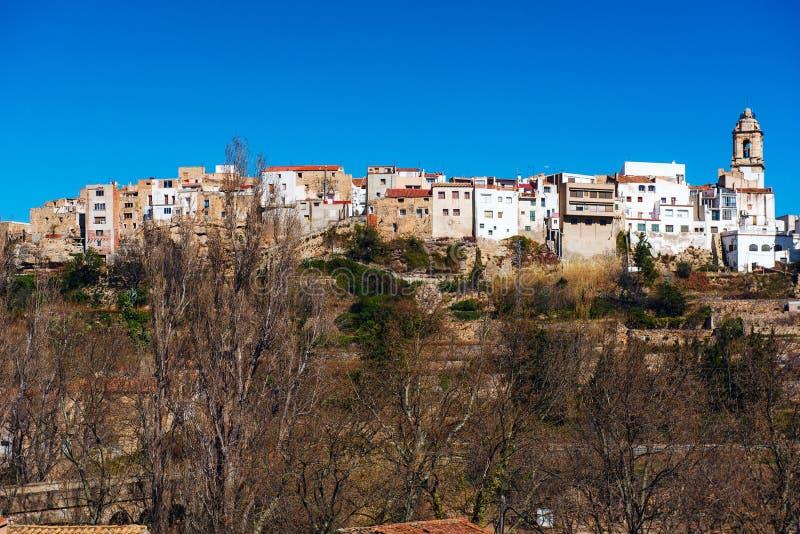 Losu Angeles Senia linia horyzontu Hiszpania zdjęcie stock