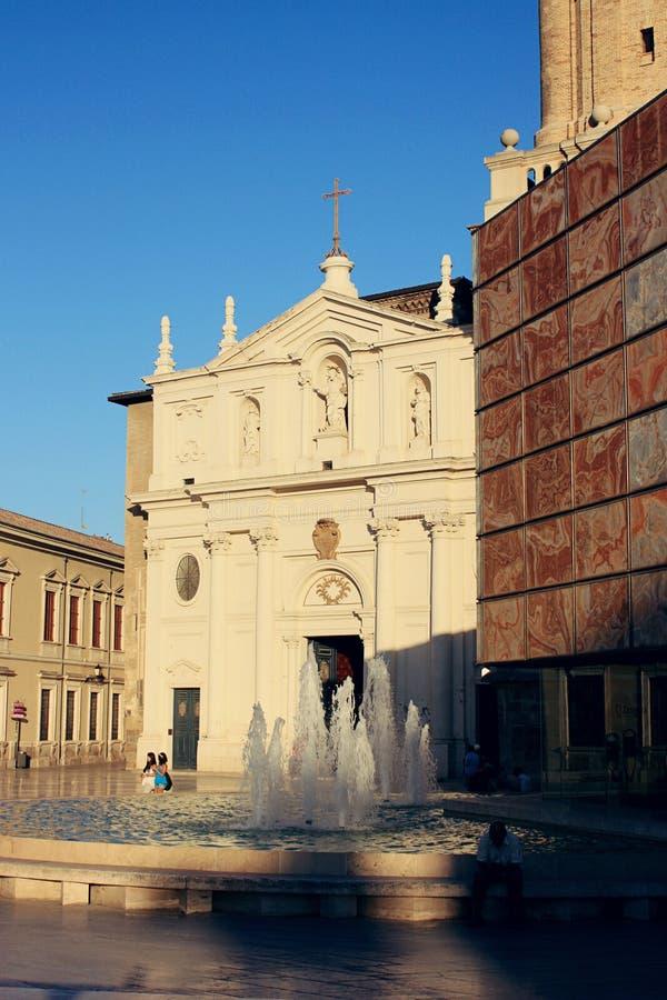 Losu Angeles Seo katedra Zaragoza, Hiszpania zdjęcie royalty free