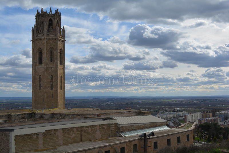 Losu Angeles Seu Vella katedra, Lleida, Hiszpania obrazy stock