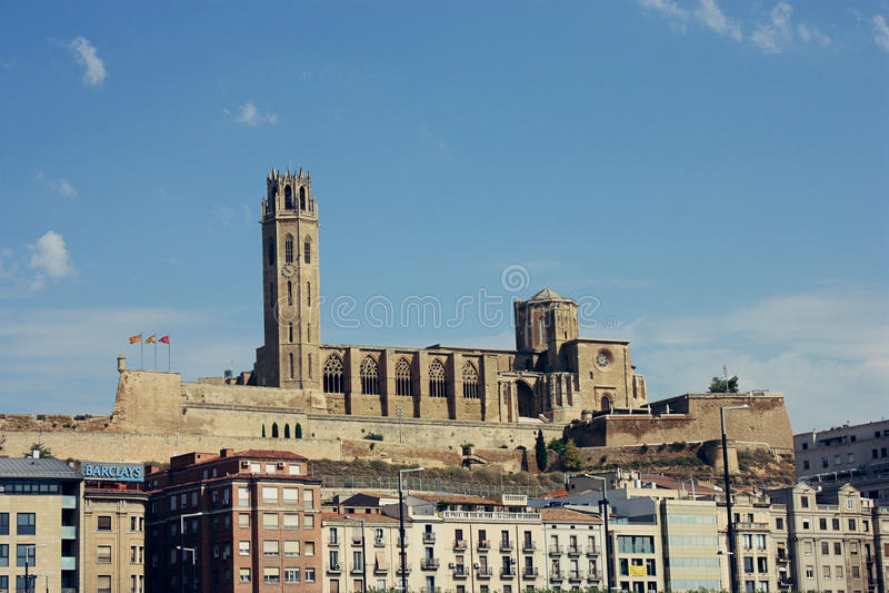 Losu Angeles Seu Vella katedra w Lleida zdjęcia royalty free