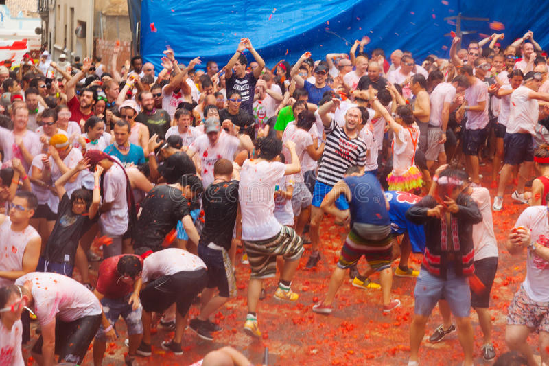 Losu Angeles Tomatina festiwal zdjęcie stock