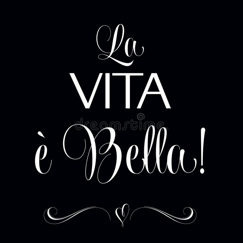 Losu Angeles vita e bella, Przytacza Typograficznego tło, royalty ilustracja