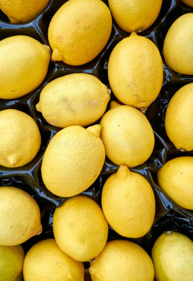 A lot of yellow lemons for the background royalty free stock photography