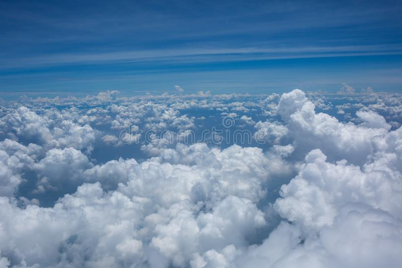 A lot of cloud in the air stock image