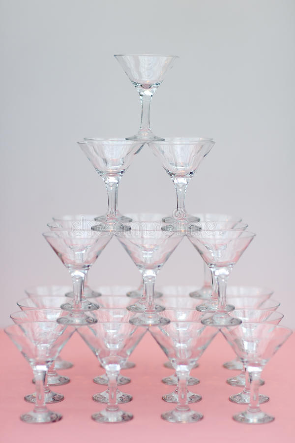 A lot of cocktail glasses stock photos