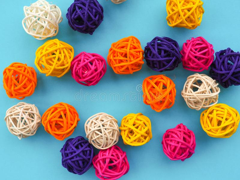 A lot of colored balls for a florist as a backdrop, the substrate royalty free stock image