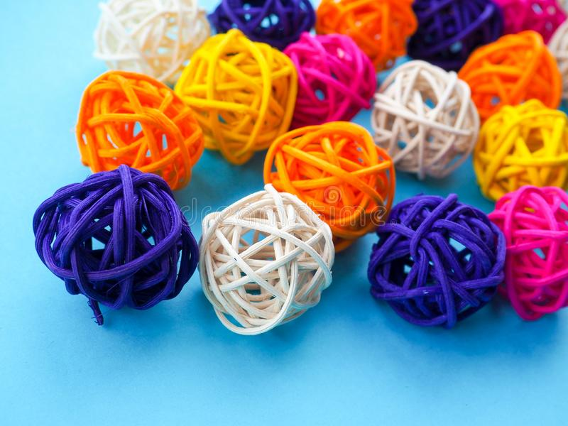 A lot of colored balls for a florist as a backdrop, the substrate stock photo