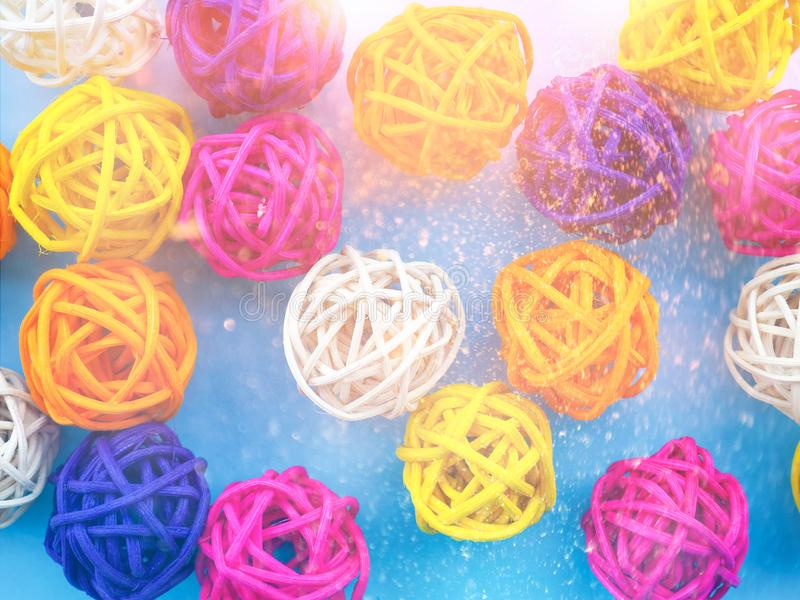 A lot of colored balls for a florist as a backdrop, the substrate royalty free stock images