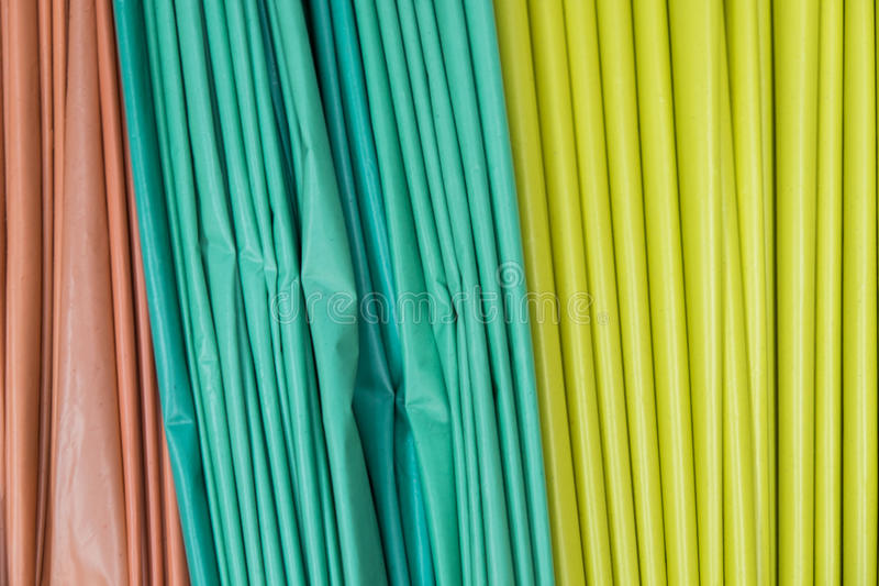 A lot of colorful plastic bags royalty free stock photos