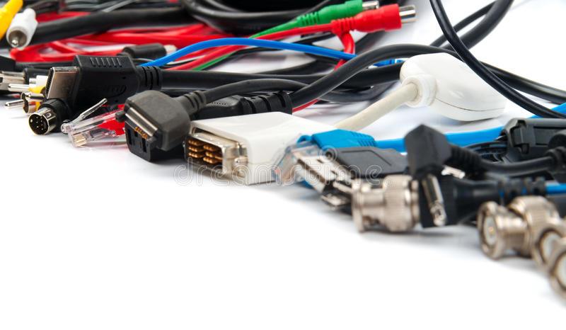 Download A lot of computer cables stock image. Image of equipment - 26147099