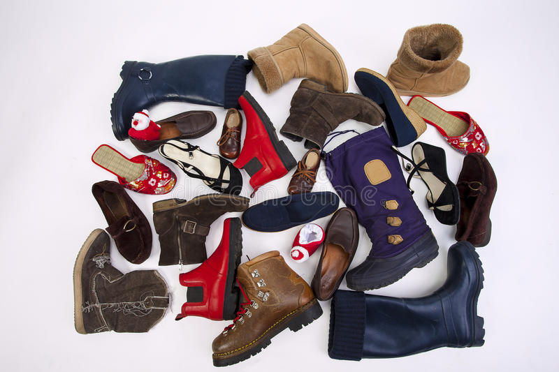 Download A lot of different shoes stock photo. Image of fashionable - 83701092