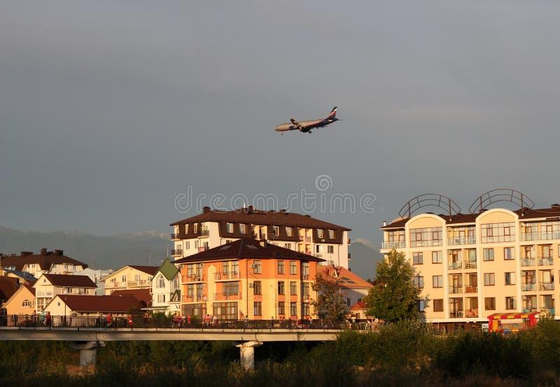 lot do miasta zdjęcie stock