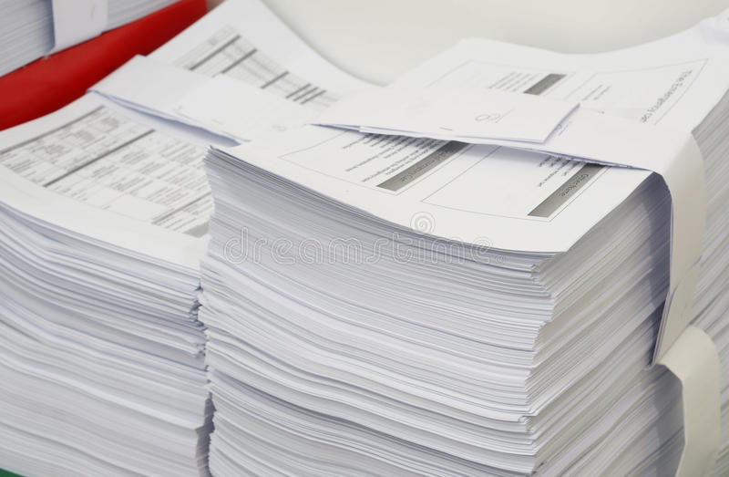 A lot of document stock image