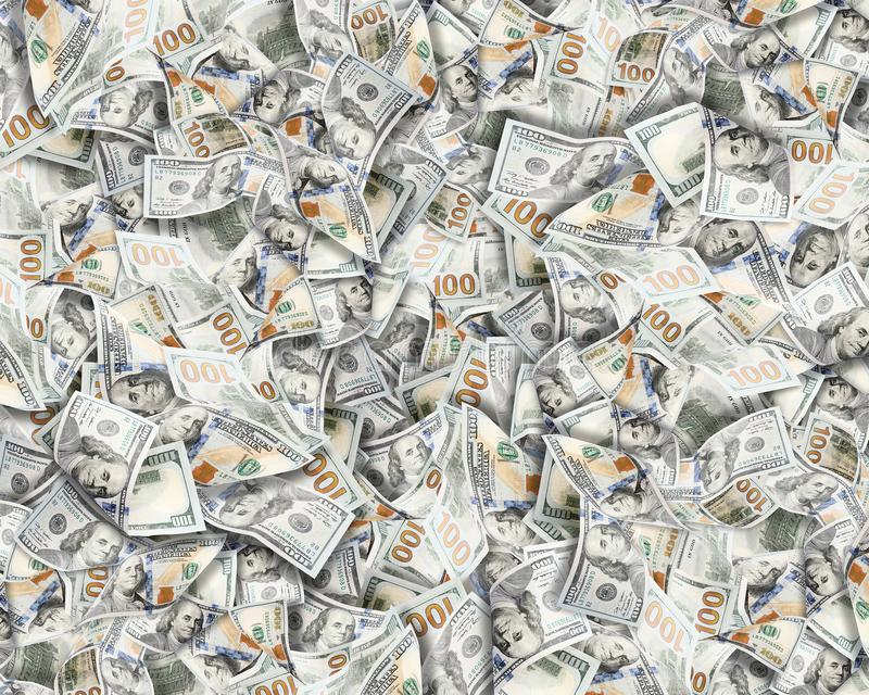 A lot of dollars.Highly detailed picture of American USA money stock photos