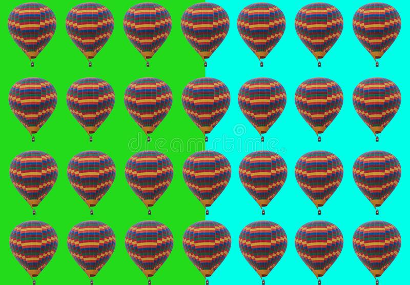 A lot of flying balloons background. A lot of flying hot balloons background royalty free stock photos