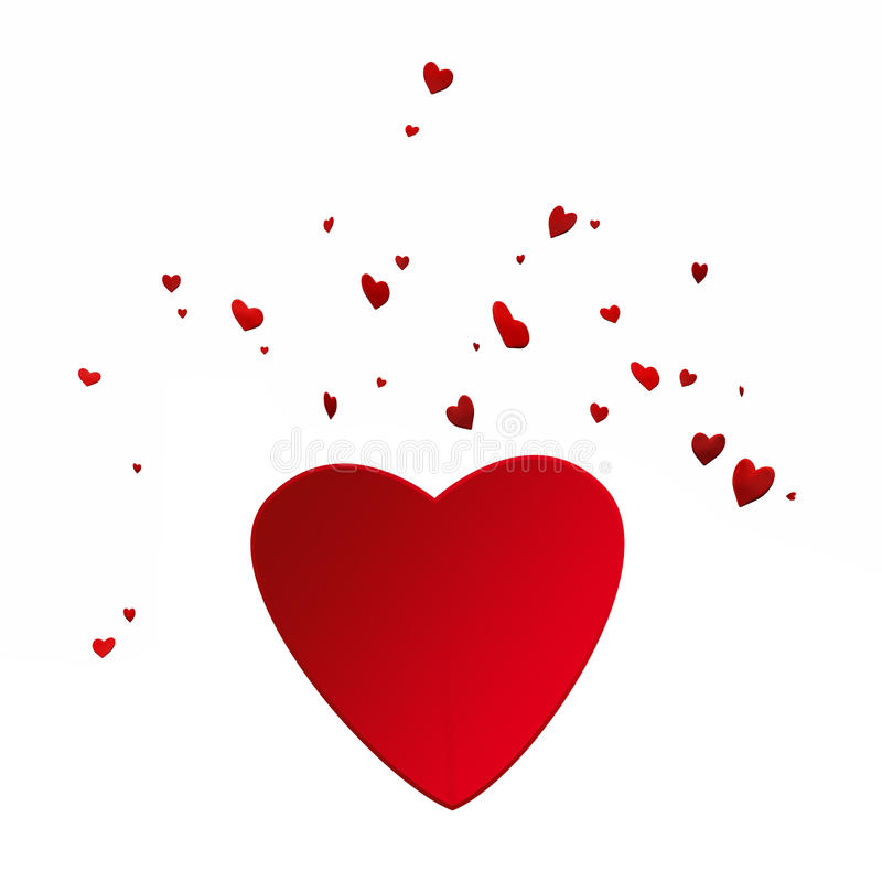 Download A lot of hearts stock illustration. Image of heart, white - 11603500