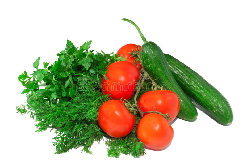 A lot of isolated fresh vegetables royalty free stock photography