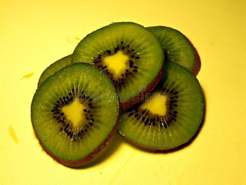 A lot of kiwi slices. Ready for eat royalty free stock images