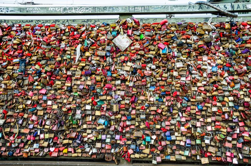 A lot of Love Locks royalty free stock photos