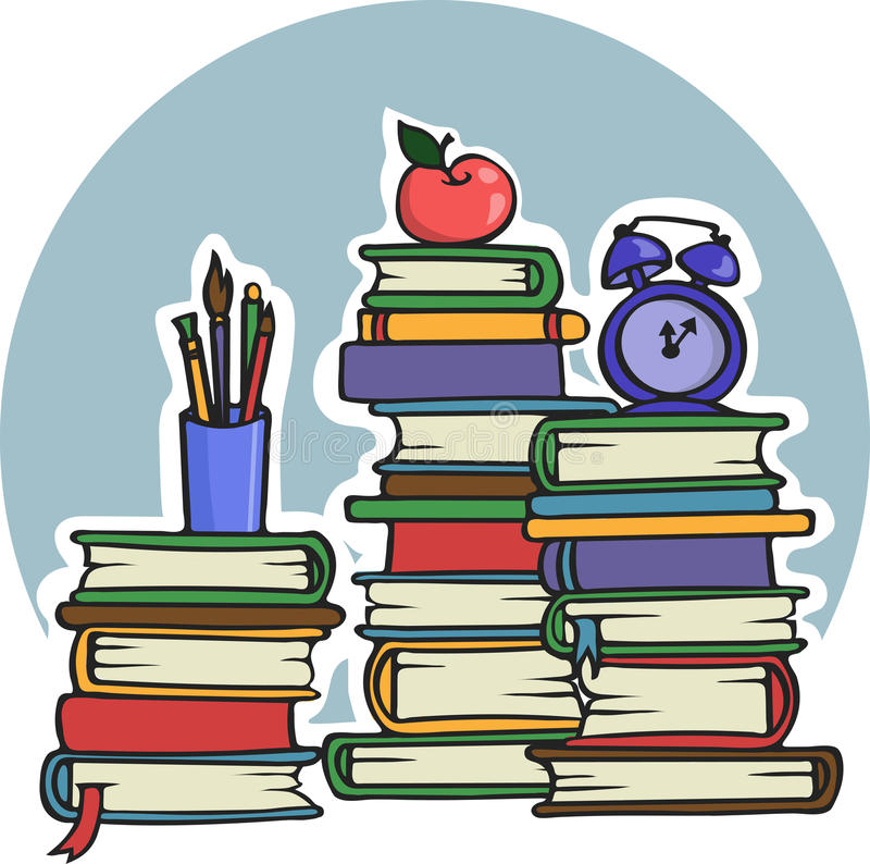 Download A Lot Of Manuals Books For School Education And College - Vector Illustration Stock Vector - Illustration of smart, cartoon: 41050539