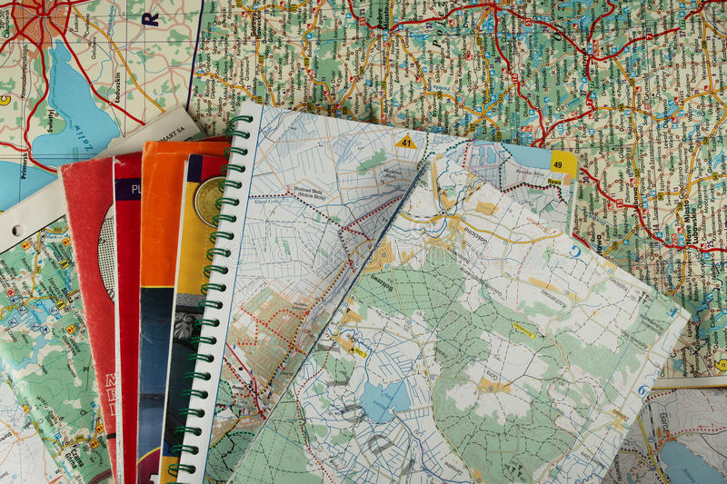 A lot of maps royalty free stock photo