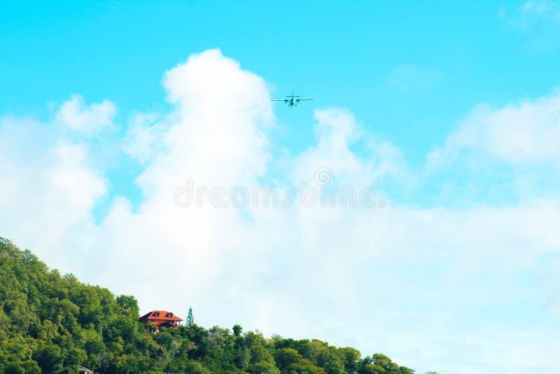 Lot nad Karaiby fotografia royalty free