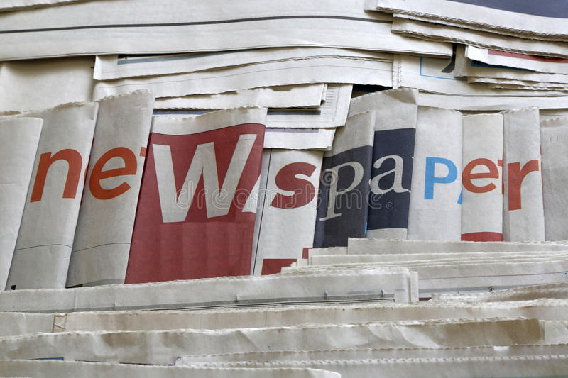 A lot of newspapers background. A lot of newspaper background royalty free stock photography